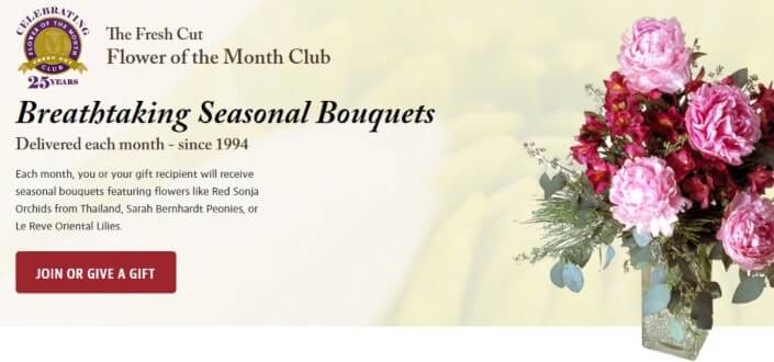 best subscription boxes for women - Fresh Cut Flower Of The Month Club (1)