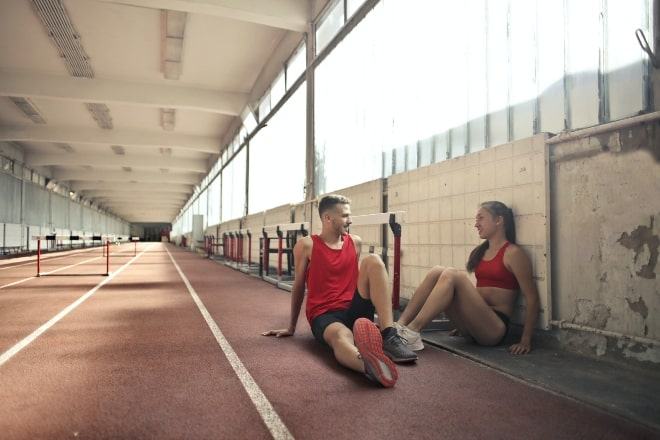 Athletes taking a rest - questions to ask a guy to get to know him