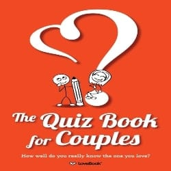 red Quiz book for couples