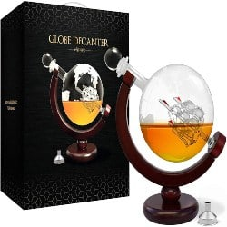best birthday gifts for boyfriend - World Etched Globe Decanter