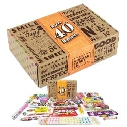 VINTAGE CANDY CO 40TH BIRTHDAY RETRO CANDY GIFT BOX - 1980 Decade Childhood Nostalgic Candies (1)