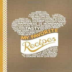 DIY Anniversary Gifts for Boyfriend - My Favorite Recipes Blank Recipe Book to Write In (1)