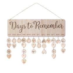diy gifts for boyfriend - Birthday Reminder Calendar Plaque