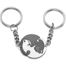 cute gifts for boyfriend - 1 Couples Keychain