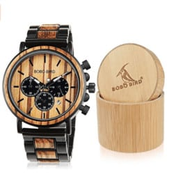 cute gifts for boyfriend - wooden mens watch