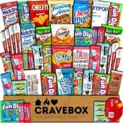 valentine's day gifts for boyfriend - CraveBox Care Package (45 Count) Snacks