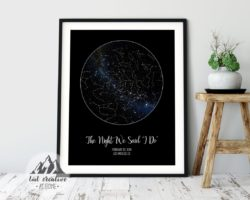 valentine's day gifts for boyfriend - Custom Star Map Poster