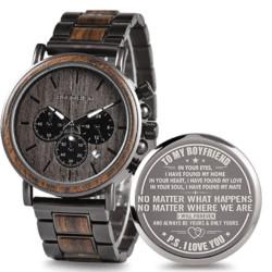 valentine's day gifts for boyfriend - Engraved Wooden Watch