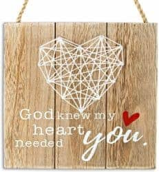 valentine's day gifts for boyfriend - God Know My Heart Needed You Handmade Sign Crafts