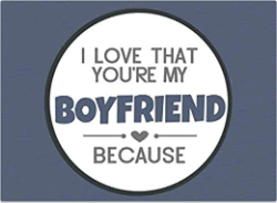 valentine's day gifts for boyfriend - I Love That You're My Boyfriend Because Prompted Fill In The Blank Book