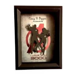 valentine's day gifts for boyfriend - Personalized 3D I Love You 3000 Shadowbox