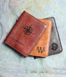 valentine's day gifts for boyfriend - Personalized Genuine Leather Passport Holder
