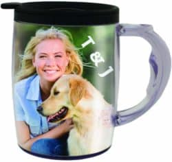 valentine's day gifts for boyfriend - Photo Travel Mug - The Mug That's A Picture Frame - DIY - Insert Your own Photos or Designs