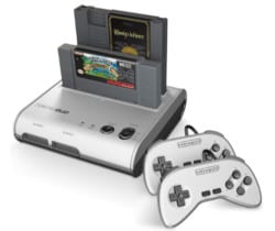 valentine's day gifts for boyfriend - Retro-Bit Retro Duo Twin Video Game System NES and SNES V3.0 - Silver Black