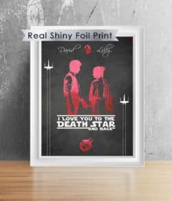 valentine's day gifts for boyfriend - Shiny Foil Star Wars Anniversary Gift For Him