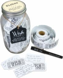 valentine's day gifts for boyfriend - TOP SHELF Everyday Wish Jar Kit with 100 Tickets