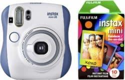 valentine's gifts for boyfriend - Fujifilm Instax Mini 26 Rainbow Film Bundle - Blue White
