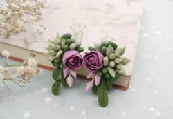 unique bridemaid gifts - Green succulent earrings