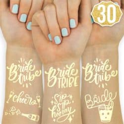 unique bridemaids gifts - Bride Tribe Metallic Tattoos