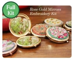 unique bridesmaid gifts - Mirror Embroidery Kit