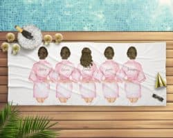 unique bridesmaid gifts - Personalized Beach Towel