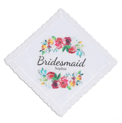 Personalized Bridesmaid Handkerchief