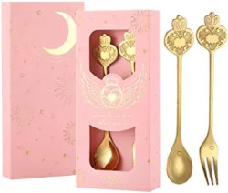 Best Bridal Shower Favors - Gold Coffee Spoon and Fork