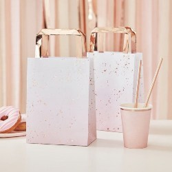 Best Bridal Shower Favors - Ombre Pink Gold Party Bags (1)