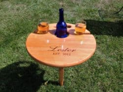Best unique bridal shower gifts - Folding Wine Table