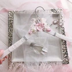 Best unique bridal shower gifts - Gold Hanger With Pearls