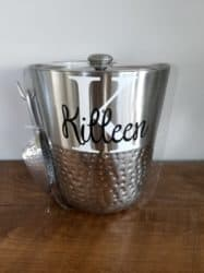 Best unique bridal shower gifts - Hammered Metal Ice Bucket with Ice Scoop