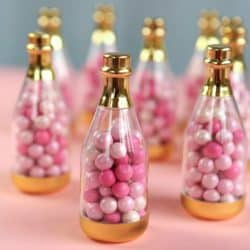 Metallic Champagne Bottle Container