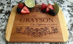 Best unique bridal shower gifts - Wood Cutting Boards
