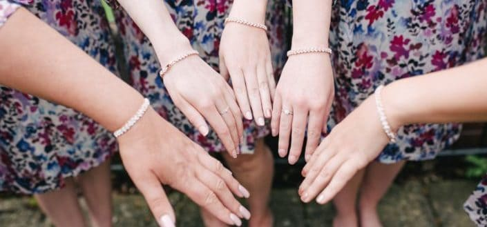 Bridesmaids and bracelet gifts