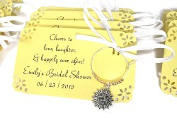 Cheap Bridal Shower Favors - Sunflower Wine Charms (1)