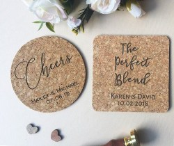 Cjeap Bridal Shower Favors - Cheers Cork Coasters (1)