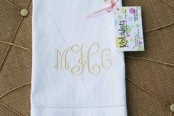 Personalized Bridal Shower Favors - Personalized Guest Towel (1)