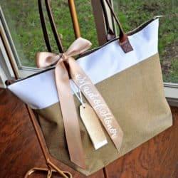 Bridesmaid Tote Bag With Zipper