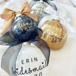 Personalized Bridesmaid Ornament