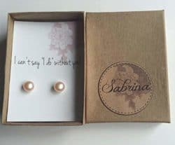 Personalized Bridesmaid Gifts - pearl earrings