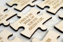 Personlaized Bridla Shower Favors - Piece of Our Day Jigsaw Puzzle Piece (1)