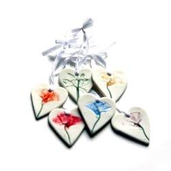 Unique Bridal Shower Favors - Hanging Hearts (1)