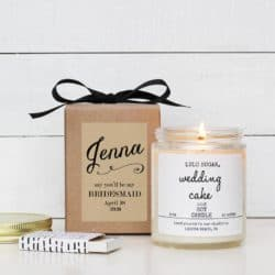 Unique Personalized Bridesmaid Gifts - Maid of Honor Candle