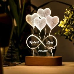 best personalized bridal shower gifts - 3D Illusion Lamp Gift