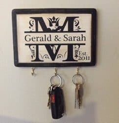 best personalized bridal shower gifts - Monogram Key Holder