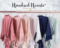 six Bridesmaid Robes hanging