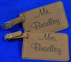 cheap bridal shower gifts - Monogram Luggage Tag