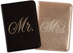 Passport Wallets Travel Holder Set Mr. and Mrs.