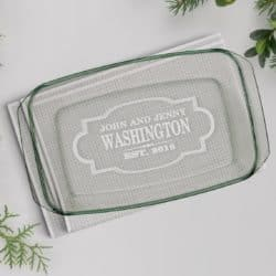 cheap bridal shower gifts - Personalized Casserole Dish