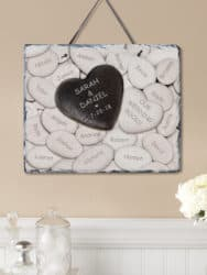 Personalized Our Wedding Rocks Slate